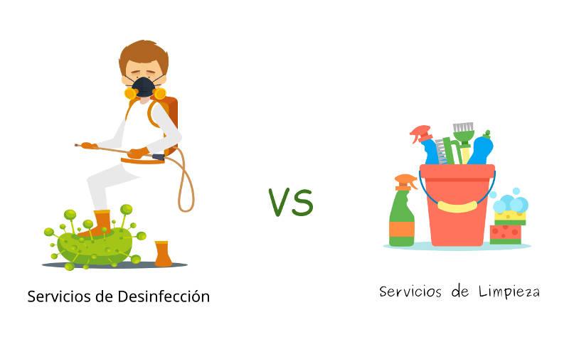 empresa desinfección no es de limpieza